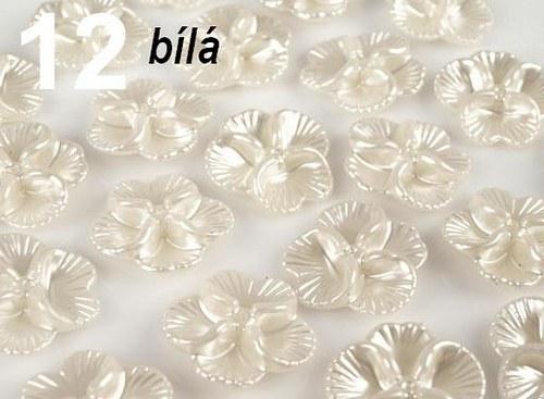 Korálky GLANCE plast květinka Ø26mm