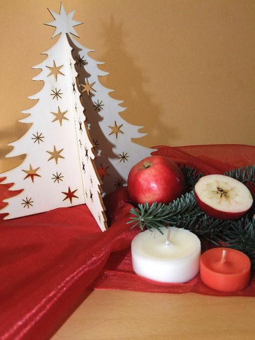 Vánoční strom, stromeček - HVĚZDY, HVĚZDIČKY 25 cm