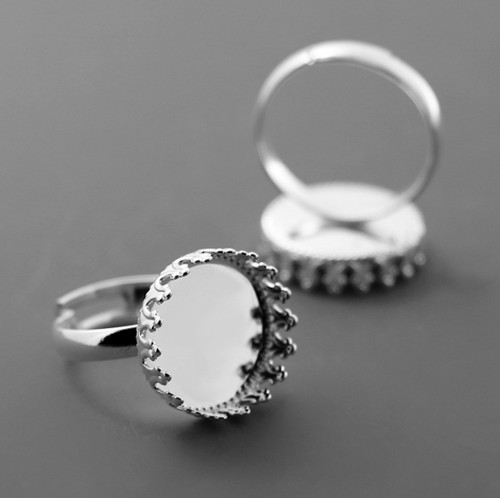 Luxusní prstenový komponent s lůžkem Ø 15mm