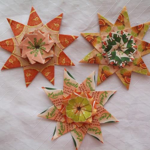 Čajové hvězdy - sada oranžová