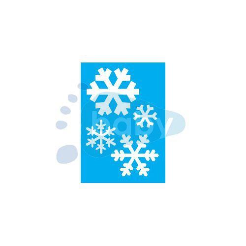 Šablona sněhové vločky 7 x 10 cm