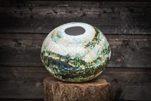 keramická váza měděná