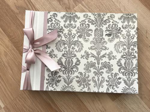 Fotoalbum - wedding damask pale pink