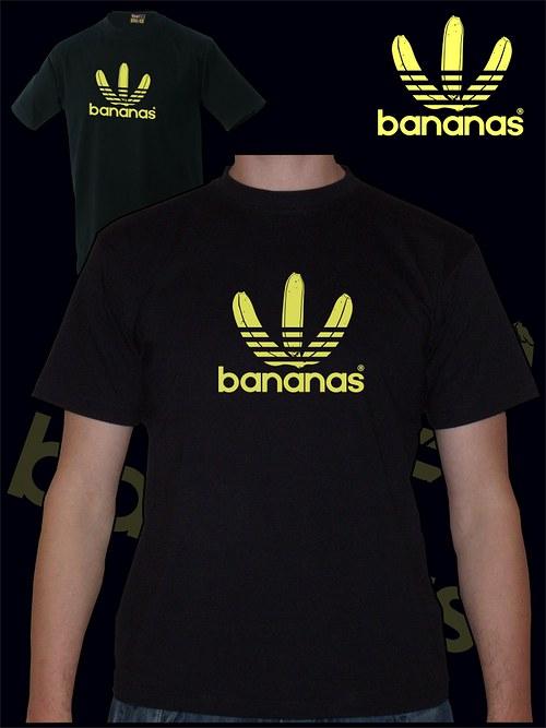 Pánské černé tričko Bananas