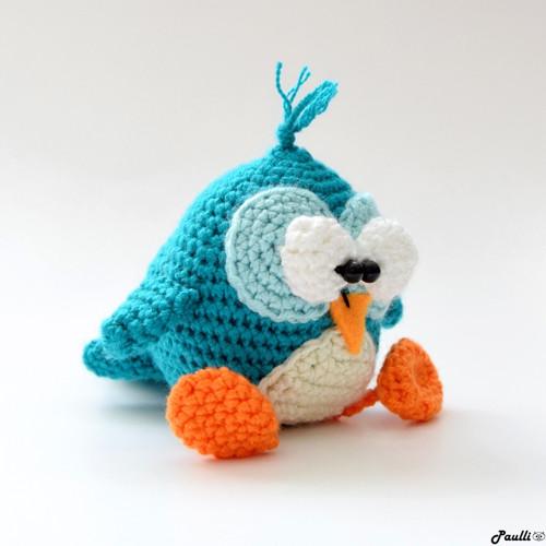Tyrkysový ptáček (9 cm)  - na objednávku