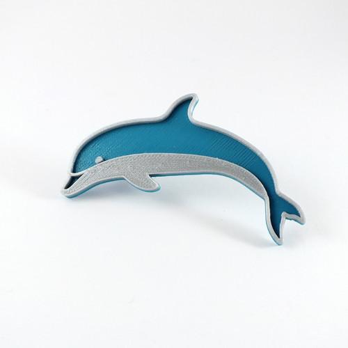 Delfín silver/turqouise blue