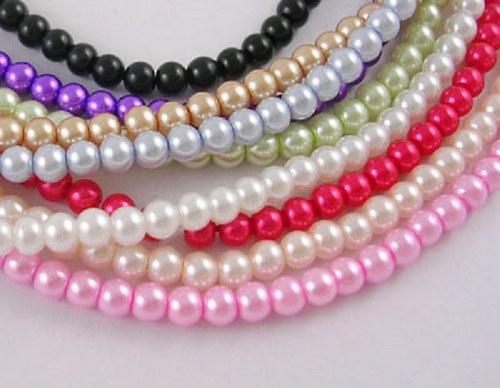 Korálky sklo perla 4320ks/4mm/790,-