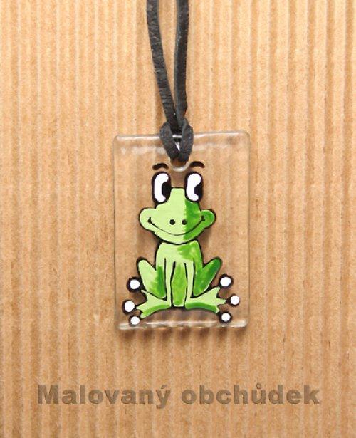 Skleněný přívěsek-žabák Kulivočko