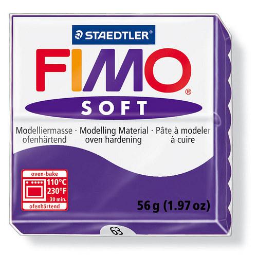 Fimo soft modrofialová 63