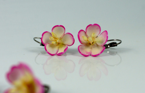 Náušnice - třešňový květ