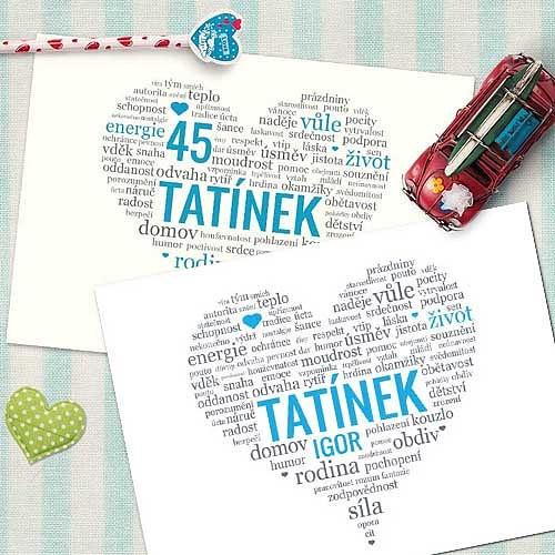 přání pro tatínka k narozeninám Obraz pro tatínka   dárek k narozeninám (No.74a) (tatínkovo jméno  přání pro tatínka k narozeninám