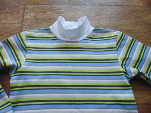 tričko modrozelený  pruh, vel 122-140,dl.rukáv