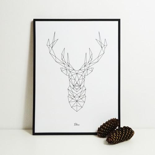 Designový plakát Deer 30x40cm