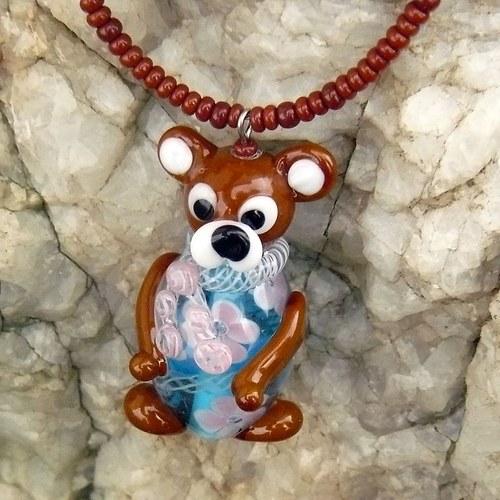 Medvěd v modrém + (chirurgická ocel)