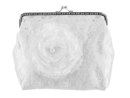 Dámská kabelka bílá, svatební kabelka H1