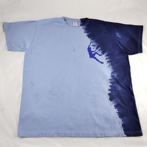 Modré triko s horolezcem XL