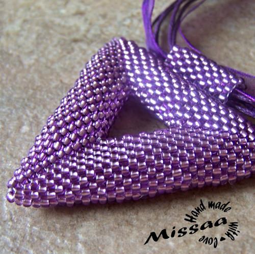 """Přívěsek \""""Geometry in purple\"""""""