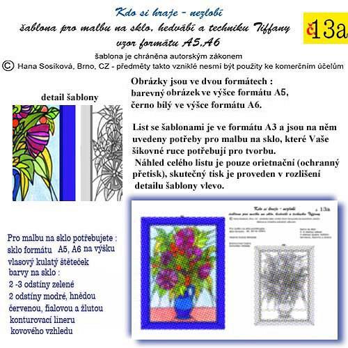 šablona č. 13a  Kytice    50/200