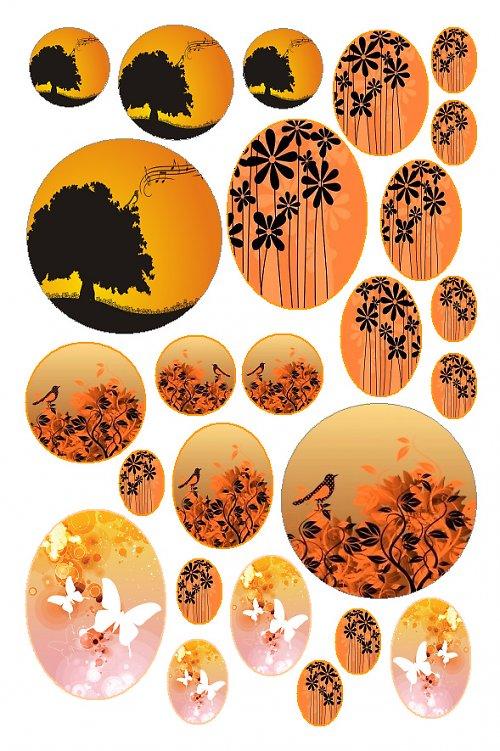 oranžové motivy