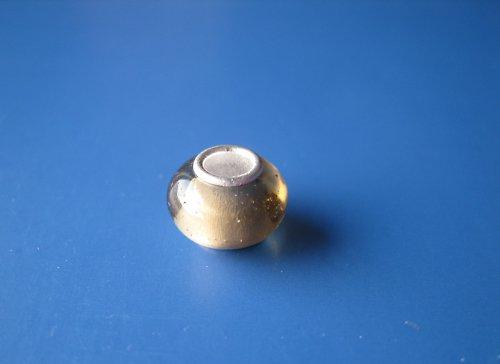 Korálek - jádro stříbro 925 - hněděčirá