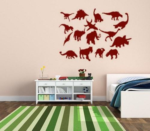 samolepka dinosauři 50x35 cm
