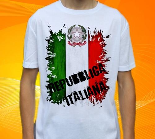 Dětské tričko s motivem  Vlajka ITÁLIE