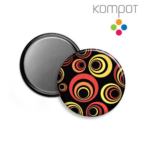 ZRCÁTKO :: žluto-čevené kruhy