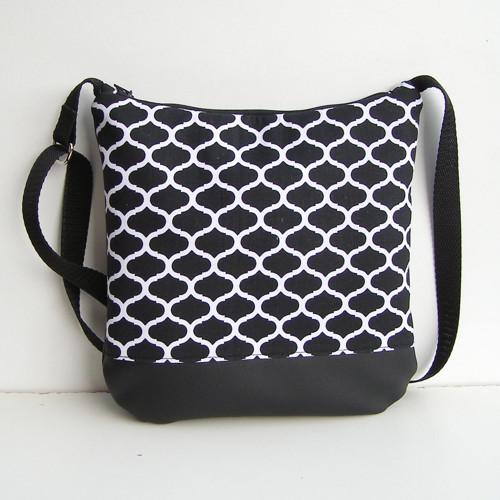 Čierna, černá kabelka Crossbody