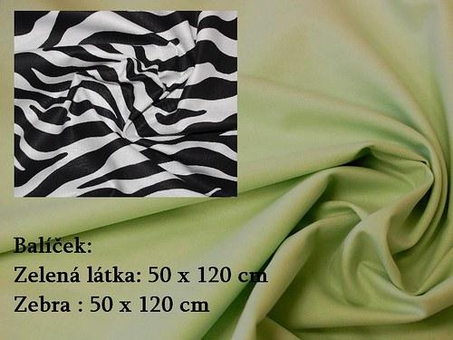Balíček Zebra - zelená