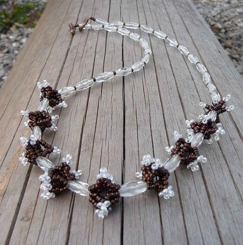 hnědokřišťálový náhrdelník