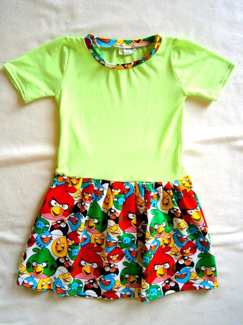 Dětské šaty Angry Birds