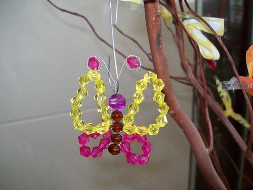 Jarní dekorace motýlek