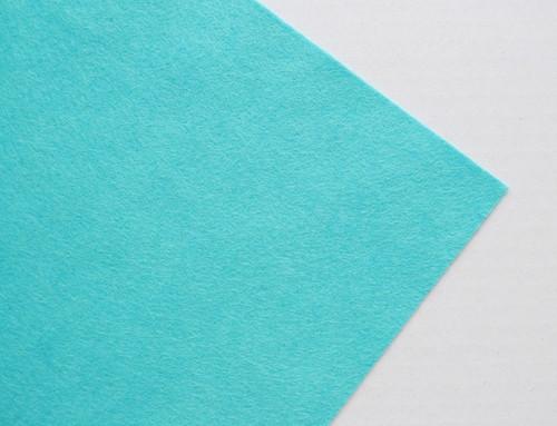 Plsť metráž tyrkysová (šířka 45 cm) (barva č. 25)
