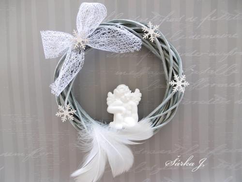 andělské časy - věnec FANTASY SNOW