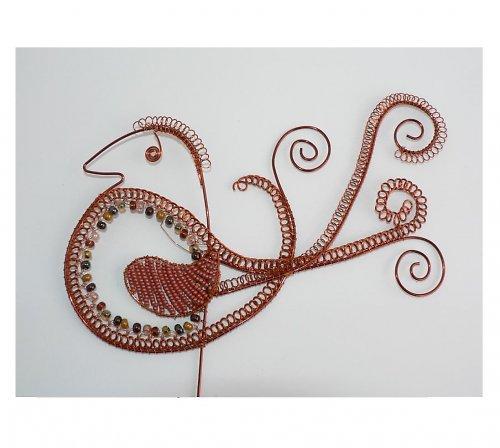 Ptáček  v mědi