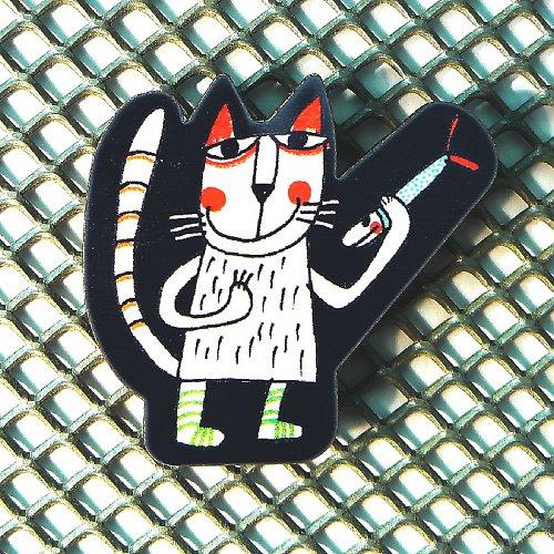 Magnet - Kočka s rybkou II.