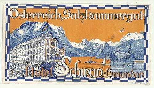 Hotelové nálepky Hotel Osterreich