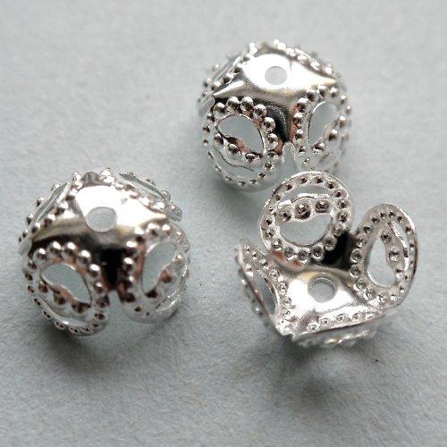 SLEVA Kaplík stříbrný filigránový  (20ks)K69