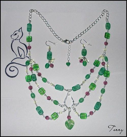 Lesní studánka - sada šperků