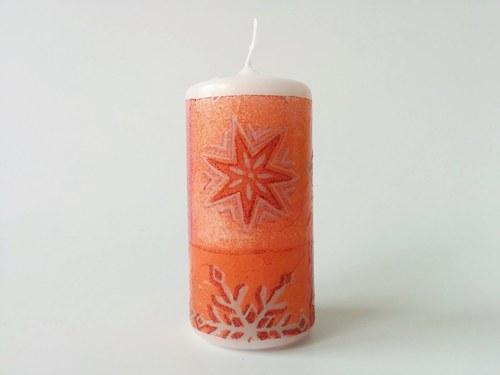 Vánoční svíčka bílá 3