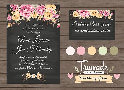 Svatební oznámení Flower garden