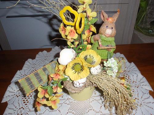Velikonoční veselá dekorace se zajíčkem SLEVA 10%