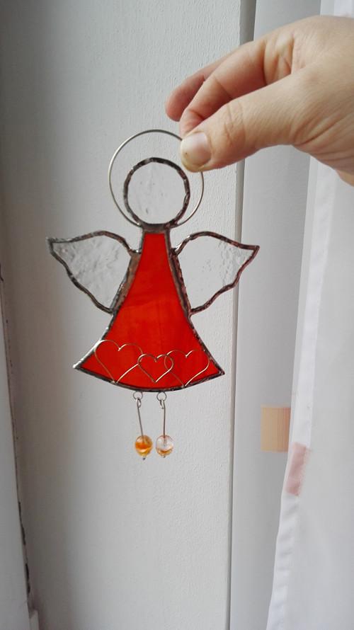Andílek oranžový 15,5 cm