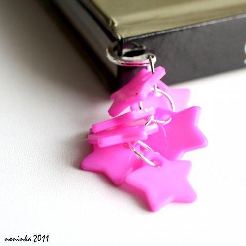 sytě růžová hvězda  - záložka do knihy - VÝPRODEJ