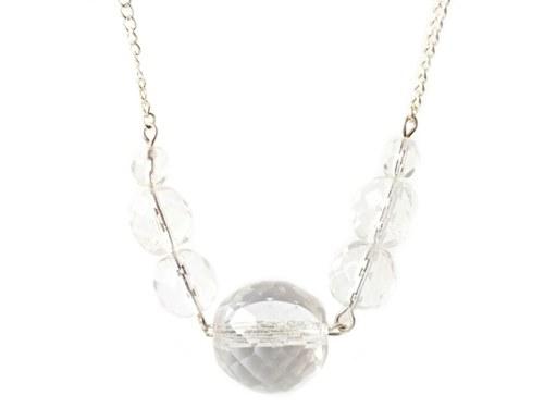 Elegantní náhrdelník z čirých korálek I.
