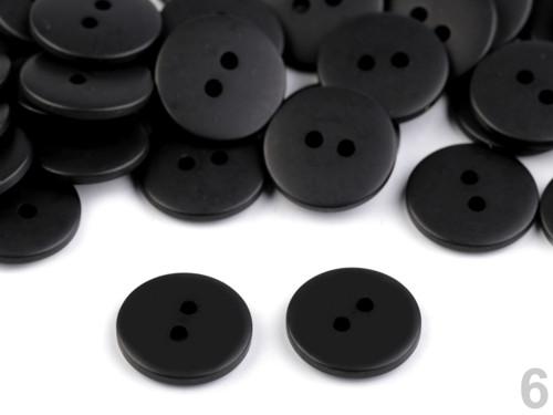 Knoflík 15,2mm (10ks) - černá