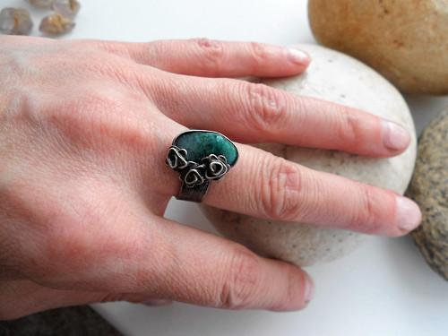 chryzokolový prsten