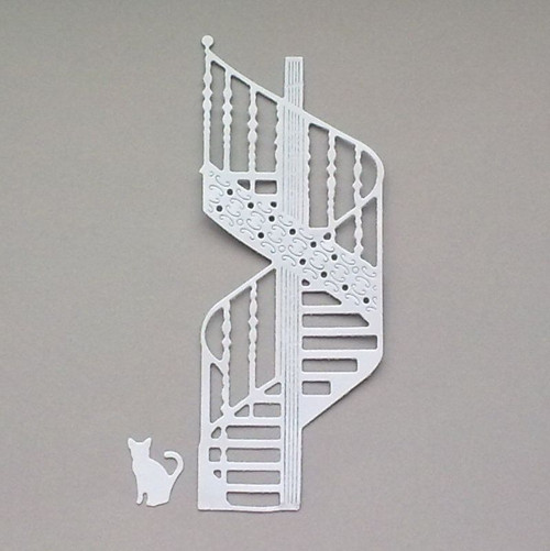 Výsek - Schodiště a kočka - barva dle přání