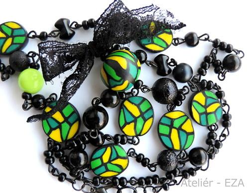 Vintage náhrdelník + náušnice ZDARMA