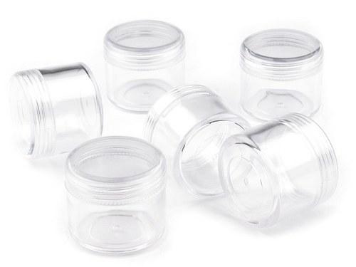 plastová dózička se šroubovacím uzávěrem